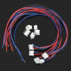YS-056 3pin Terminal Lead Wire Harness + 5-Terminal Connector Sockets - White (5 PCS)