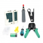 WLXY WL-32 Network Cable Tester Diagnostic Tool Kit Box - Green + Black + White + Grey + Yellow