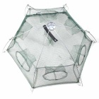 Foldable 6-Hole Shrimp Pot Cage - Light Green