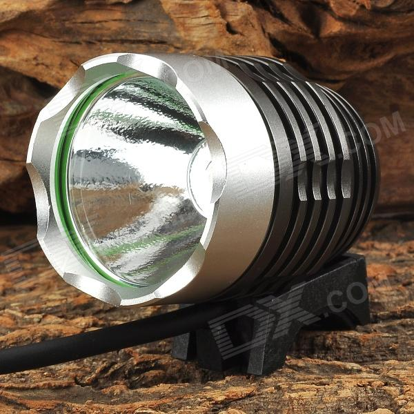 ENB Q5-11 USB Powered 240lm 3-Mode White Bicycle Light w/ Cree XP-E Q5 - Dark Grey + Silver