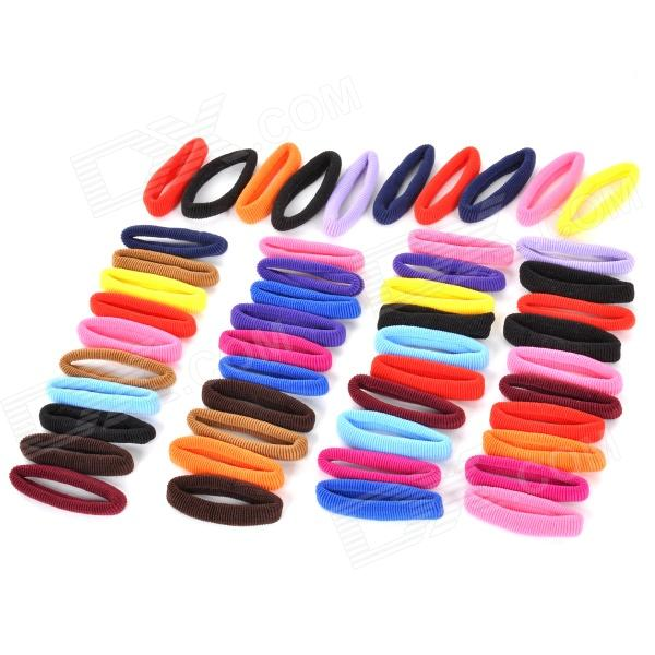 Rubber Band Hair Band / Hair Rope Headdress - Multicolored (50 PCS)