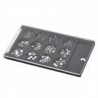Formados redondos decorativos 12-in-1 Rhinestone DIY Nail Art Sticker Pads - Plata