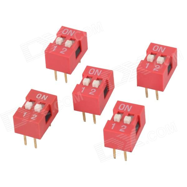 YS4 2-digit DIP Switch - Red + White (5 PCS)