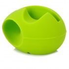 Egg Style Silicone Audio Amplifier for Iphone 5 - Green