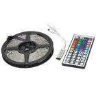 72W 4000lm 300-5050 SMD LED RGB luz decorativa Strip w / Mini Control - Negro + Blanco (5m)