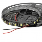 Waterproof 72W 3000lm 6500K 300-5050 SMD LED White Light Decorative Strip Lamp - Black + Yellow (5m)