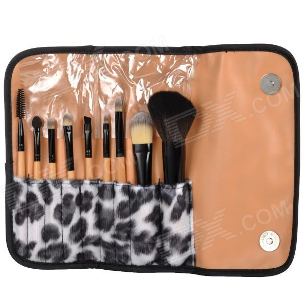 9-in-1 Cosmetic Makeup Brush Tool Set w/ Carrying Bag
