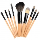 9-in-1 Cosmetic Makeup Brush Tool Set w / Bolsa de Transporte