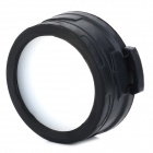 NITECORE NFD60 Plastic + Silicone 60mm Optical Filter for Flashlight - Black + Translucent White