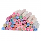 40-in-1 Flower Pattern DIY Polymer Clay Decoration Strips Set - Multicolored
