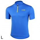 Santic WC02004B Bicycle Cycling Riding Polyester Fiber Short Sleeves Jersey - Blue (Size L)