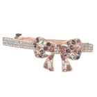Bowknot Shaped Rhinestone Hair Decorative Spring Clip