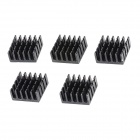 YaoSheng YS95 Aluminum Heat Sink - Black (10 x 22 x 22mm / 5PCS)