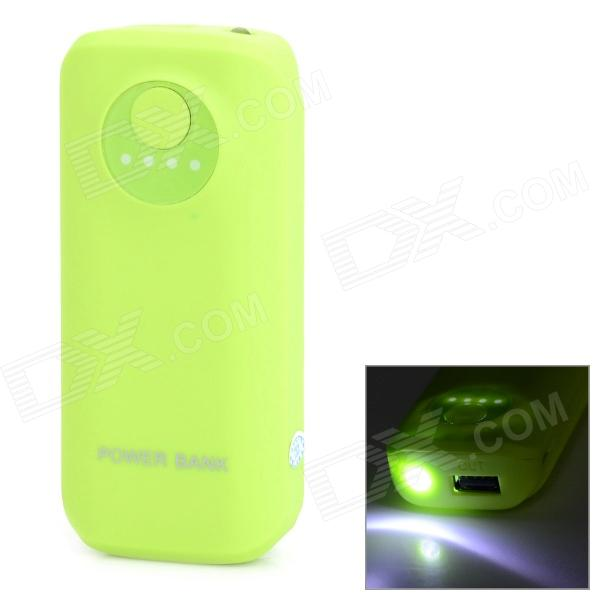 Matte 5600mAh Mobile Power Bank w/ LED Lamp - Green