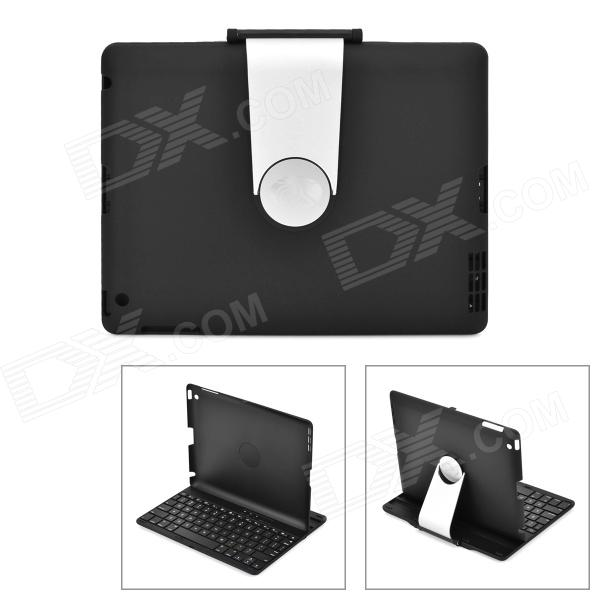 360 Degree Rotational Back Case + Bluetooth v3.0 78-Key Keyboard for Ipad MINI - Black