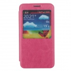 SHS Protective PU Leather Case Cover w/ Visual Window for Samsung Galaxy Note 3 N9000 - Deep Pink