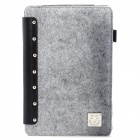 Protective Flip Open Case w/ Stand / Card Slots for iPad Mini - Grey + Black