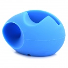 Egg Style Silicone Audio Amplifier for Iphone 5 - Blue
