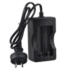 SingFire AU-DC5 AU Plug 2 x 18650 Lithium Battery Charger/charging - Black (AC110V~240V DC4.2V )
