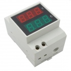"0.5"" LED Air Switch Type / Guide Rail Type Digital Dual Display AC Voltmeter - (AC 80~150V / 99.9A)"