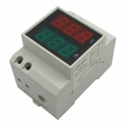 "0.5"" LED Air Switch Type / Guide Rail Type Digital Dual Display AC Voltmeter - (AC 80~300V / 99.9A)"