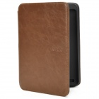 Protective PU Leather Flip Case w/ LED for Amazon Kindle Touch - Brown