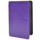 Protective PU Leather Flip Case for Amazon Kindle Paperwhite - Purple