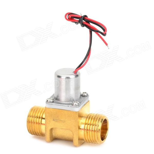 ZJ-S201K Electric Copper Solenoid Valve - Silver + Golden sy7220 5lze 02 smc solenoid valve electromagnetic valve pneumatic component air tools sy7000 series