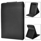 Protective PU Leder Flip Top-Standplatz-Fall für Amazon Kindle Paperwhite - Schwarz