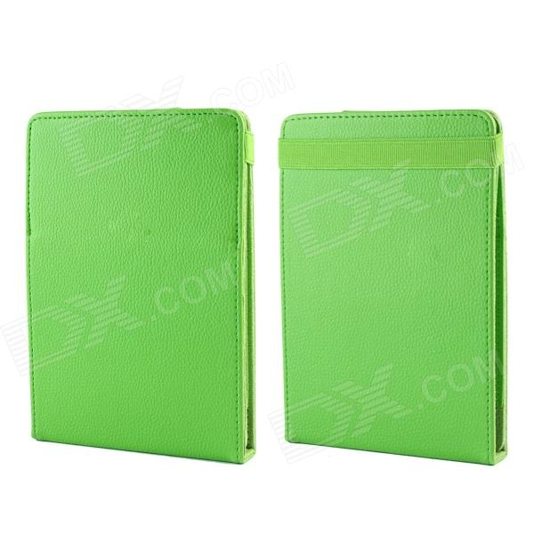 Protective PU Leather Top-flip Stand Case for Amazon Kindle Paperwhite - Green protective pu leather top flip stand