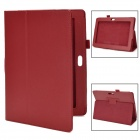 Protective PU Leather Flip Case for Sony Xperia Tablet S - Red