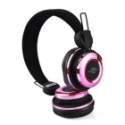 AT-BT804 Bluetooth V3.0 + EDR Stereo Headphones w/ Microphone - Pink + Black