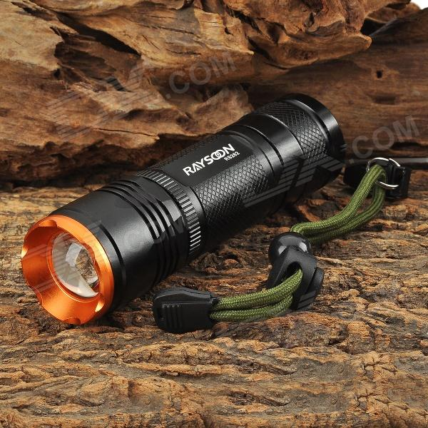 RAYSOON RS262 Cree XM-L T6 600lm 5-Mode White Zooming Flashlight - Black (1 x 18650 / 26650)