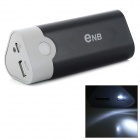 ENB 3 x 18650 Battery Holder External Power Charger for Iphone / Ipad / Xiaomi / Meizu - Black