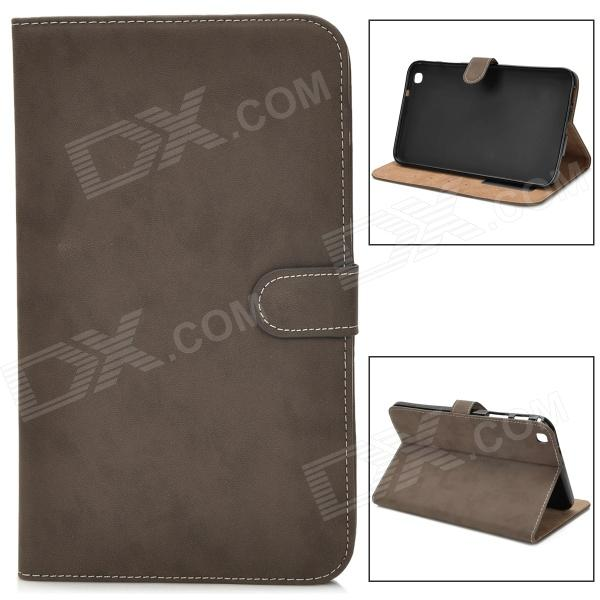 Protective PU Leather Flip Case for Samsung Tab3 T310 / T311 - Dark Brown floveme luxury flip stand case for samsung galaxy tab3 10 1 p5200 tab3 pu leather protective cover pouch bag black for tab 3