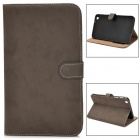 Protective PU Leather Flip Case for Samsung Tab3 T310 / T311 - Dark Brown