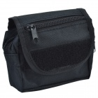 800D Waterproof Fabrics Small Outdoor Waist Bag - Black