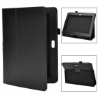 Protective PU Leather Flip Case for Sony Xperia Tablet S - Black