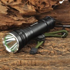 RAYSOON RS757 Cree XM-L T6 600lm 5-Mode White Flashlight - Black (1 x 18650 / 26650 or 3 x AAA)