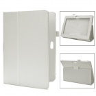 Protective PU Leather Flip Case for Sony Xperia Tablet S - White