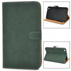 Protective PU Leather Flip Case for Samsung Tab3 T310 / T311 - Dark Green