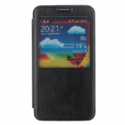 SHS Protective PU Leather Case Cover w/ Visual Window for Samsung Galaxy Note 3 N9000 - Black