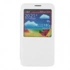 SHS Protective PU Leather Case Cover w/ Visual Window for Samsung Galaxy Note 3 N9000 - White