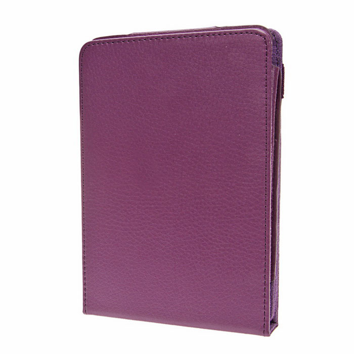 Protective PU Leather Top-flip Stand Case for Amazon Kindle Paperwhite - Purple protective pu leather top flip stand
