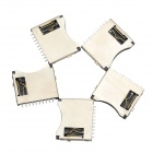 YaoSheng YS236 TF Micro SD Memory Card Holder - Silver + Black (5 PCS)