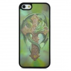 3D Dragon Cross Style Protective Back Case for Iphone 5S - Green