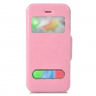 Protective PU Leather Case w/ Dual Display Windows for Iphone 5C - Pink