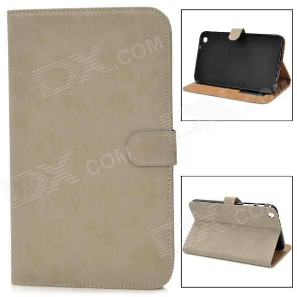 Protective PU Leather Flip Case for Samsung Tab3 T310 / T311 - Light Grey floveme luxury flip stand case for samsung galaxy tab3 10 1 p5200 tab3 pu leather protective cover pouch bag black for tab 3