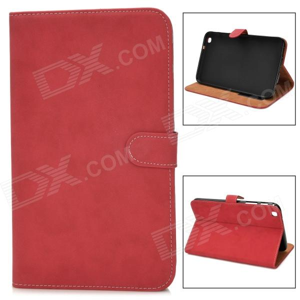Protective PU Leather Flip Case for Samsung Tab3 T310 / T311 - Red
