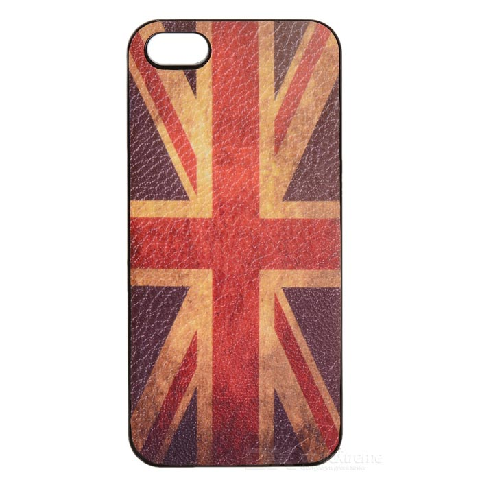 Retro UK National Flag Style Protective PVC Back Case for Iphone 5S - Red + Blue + White цена и фото